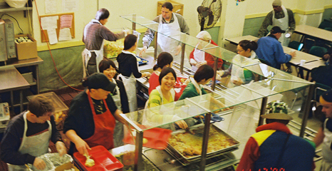 ESI students help serve meals at Glide Memorial Church in San Francisco